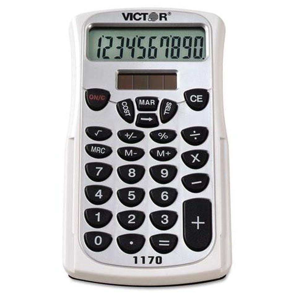 しがみつくスーツケースかすかなVictor 1170?1170ハンドヘルドビジネス電卓10桁W /スライドケース、LCD