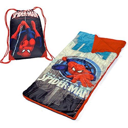 Marvel Ultimate Spiderman pour Enfant Ensemble de Sac de Couchage Sleepover