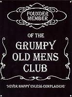 Grumpy Old Mens Club ティンサイン ポスター ン サイン プレート ブリキ看板 ホーム バーために