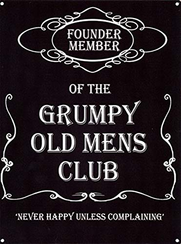 not Grumpy Old Mens Club Retro Metal Tin Sign Painted Art Poster Decoration Plaque Warning Bar Cafe garage party Game Room home Office Restaurant Bar