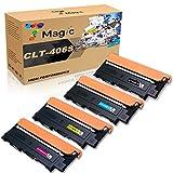7 Magic Remplacement de la Cartouche de Toner Compatible pour Samsung CLT-P406C CLT-406S pour CLP-360 CLP-365 CLX-3305 CLX-3305 CLX-3305fn Xpress SL C460fw C460w C460w (4 Pack)