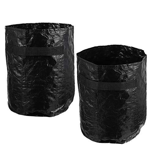 YARNOW 2 Stück Wiederverwendbare Rasentaschen Gartentasche Gartenabfallsäcke Landschaftsgestaltung Taschen Gartensäcke Tragbarer Mülleimer für Gras Müllblatt Laubbehälter 10 Zoll Schwarz