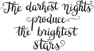 The darkest nights produce the brightest stars: Vision Board Journal, Planner and Goal Tracker