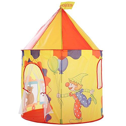 XWEM Play Pop-Up Tienda, Tienda Plegable Niños Juguete Circo Patrón De Payaso Play Interior Casa Princesa Tienda Yurt Ball Pool