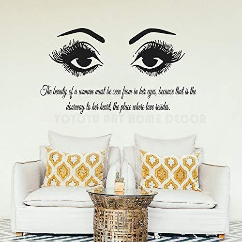 grote muurstickers voor slaapkamer grand, muurstickers wimpers oog muurstickers mascara wenkbrauwen schoonheidssalon muurstickers art50x91cm