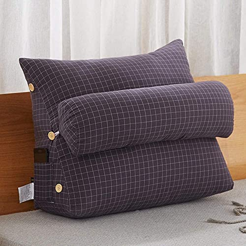 Cojín triangular desmontable para cabecera de lectura, respaldo lumbar, respaldo de cuña, cojín de lectura, cojín de respaldo de lectura, cojín de cabeza de sofá