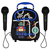 Kids Karaoke Machine with 2 Microphones, Bluetooth Toddler Singing Machine for Boys Girls Portable Children Karaoke Speaker with Voice Changer for Birthday Festival Party Gift