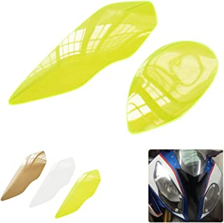 Motorcycle Headlight Screen Protector for S1000RR 2015-2018 ABS Plastic Front Lamp Shield (Fluorescent Yellow)