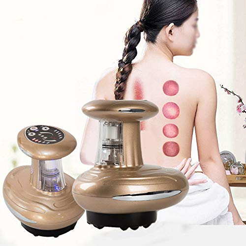 Hand-held Home SPA Vacuum Guasha Scraping Thermal Therapy Anti Cellulite Body Slimming Massager Tool, Relieves Muscle