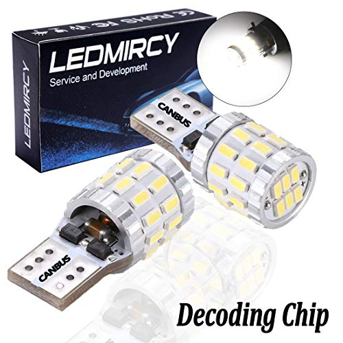194 168 W5W T10 LED Light Bulb White Canbus 12V 3014 30SMD Error Free 921 152 LED Bulbs Car Interior Exterior Lights Dome Map Door Reading Trunk Backup Tail Lights License Plate lamp/2PCS-30SMD
