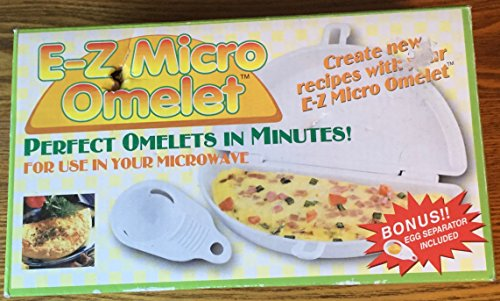 E-Z Micro Omlet Perfect Omelets In Minutes 2 Piece Set with Bonus Egg Separator