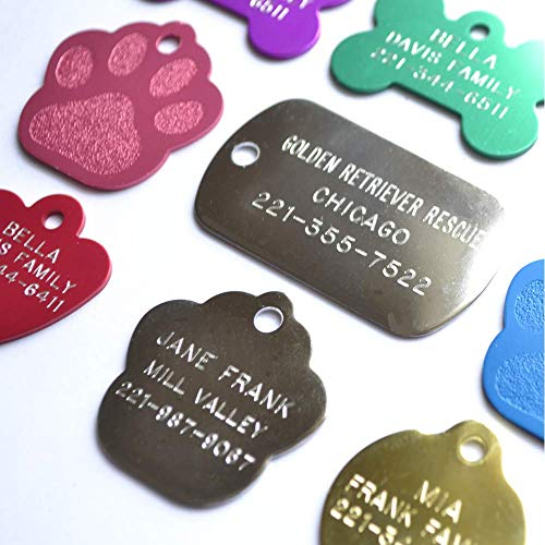 Love Your Pets Pet ID Tags - Bulk Quantity Tags, Rescue Tags & City Dog License Dog Tags - Deep Engraved Stainless Steel, Brass and Aluminum Tags (Aluminum, 50 Pack)