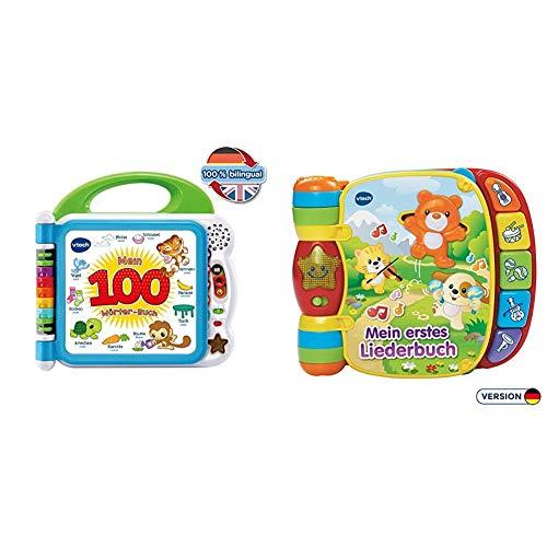VTech 80-601504 Mein 100-Wörter-Buch Babybuch, Babyspielzeug, Babybücher & Baby 80-166704 Babyspielzeug - Mein erstes Liederbuch,Voilet