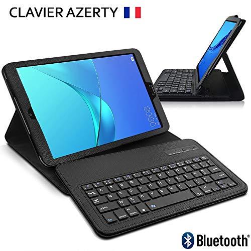 KARYLAX - Funda de protección con teclado francés Azerty conexión Bluetooth para Huawei Mediapad M5 de 8.4 pulgadas