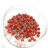 goeasybuy Red 100PCS 1/8 Inch Map Tacks Pushpins Map Tacks,