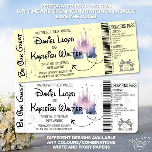 Invitaciones de cumpleaños personalizadas para invitaciones de Mickey Minnie de Disney para invitaciones, invitaciones de Mickey Minnie Ariel Peter Pan Rey León Princesa Príncipe