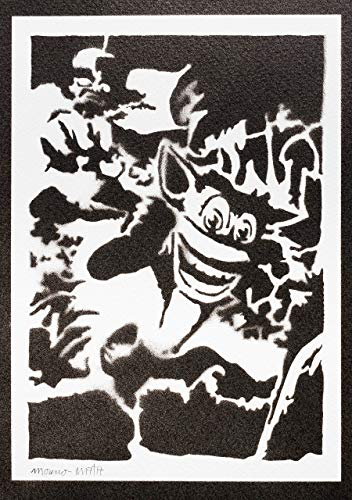 Crash Bandicoot Poster Plakat Handmade Graffiti Street Art - Artwork
