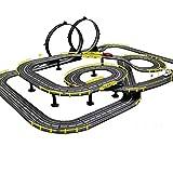 LINGLING Track Slot Car Race Tracer Racers R/C Control Remoto de Alta Velocidad Speedway Glow Track Set Juguete Regalo de cumpleaños para niños y niñas