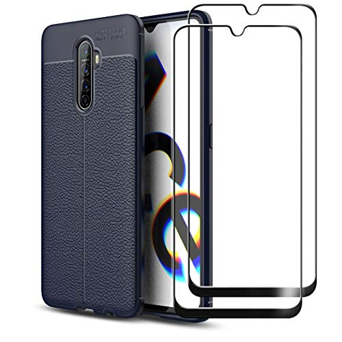 HYMY Case + 2 x Full Glue Full Cover Tempered Film for Realme X2 Pro (6.5