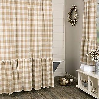 Piper Classics Rebecca High Ruffle Shower Curtain 72 X Taupe