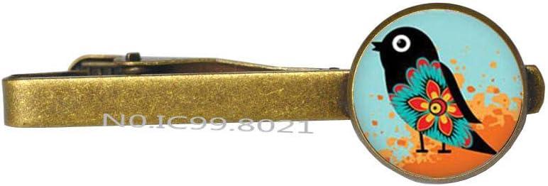 Hummingbird Tie Clip, Delicate Tie Clip,Bird Tie Clip,Bird Tie Pin Chain jewelley -RG120