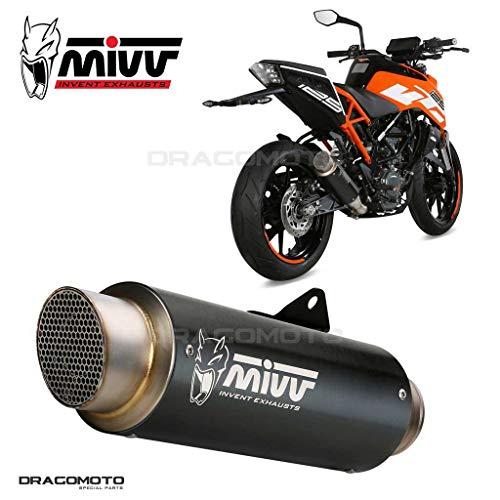 Auspuff 390 DUKE 2019 2020 Gp Pro MIVV Stahl Schwarz
