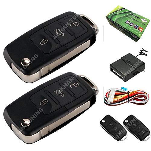 akhan AKH66164081 100F60 Funkfernbedienung Set, Umbausatz inklusiv 2 Handsender für alle 12V Zentralverriegelungen