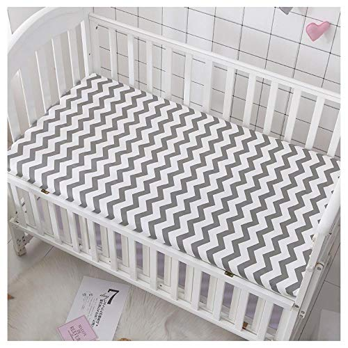 RSM Baby Mattress Cover Cotton Breathable Baby Bed Bed Sheet Newborn Sheets Infant Mattress Cover Protector,U,130 * 70x5cm