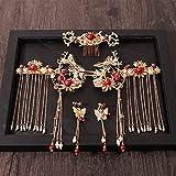 Mujeres Pein Pein Combs Tradicional Chino Boda Accesorios para el Cabello Diadema Stick Headdress Joyería Cabeza de Novia Pin Chenhuanbakeyji