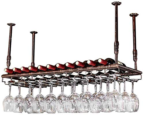 COLiJOL Soporte para Vino Estante para Vino Colgante Al Revés Portavasos Muebles Estante para Copas de Vino, Estante Soporte para Copas de Vino Estante para Copas de Vino Estante para Copas de Champá
