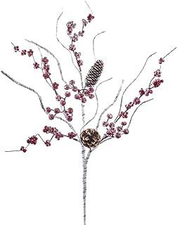 Kurt S. Adler 27-Inch Birch Berry Branch with Pinecone Spray, Multi