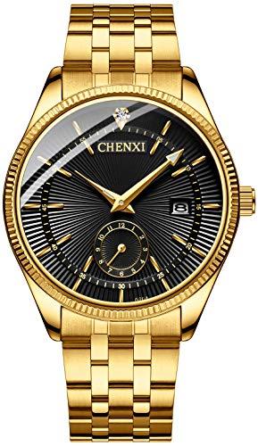 Fanmis Men's Luxury Analog Quartz Gold Wrist Watches...
