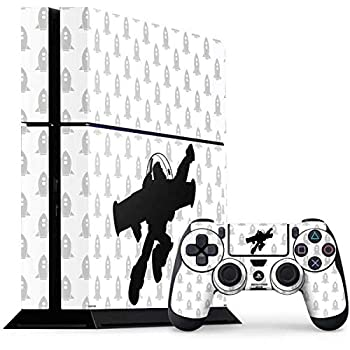 Skinit Decal Gaming Skin Compatible with PS4 Console and Controller Bundle - Officially Licensed Disney Buzz Lightyear Silhouette Design
