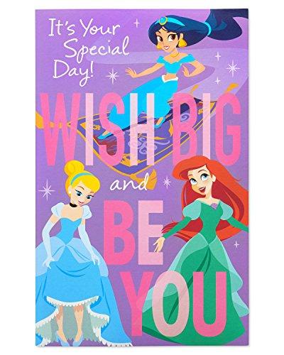 American Greetings Disney Princess Birthday Card for Girl with Music