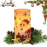 クリスマスキャンドル サンタクロース キャンドルライト クリスマスライト クリスマス 飾り LEDキャンドル パーティーキャンドル 乾電池式 LEDシミュレーションキャンドル 無煙蝋燭 省エネ 長持ち タイマー機能付き
