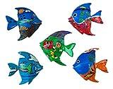 Imanes de pescado – imanes de madera pintados a mano, elementos restantes y segunda elección artículo en juego de decoración, imán para nevera, imán de animales, decoración para habitación infantil