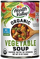 Health Valley Organic No Salt Added Soup, Vegetable, 15 Ounce
