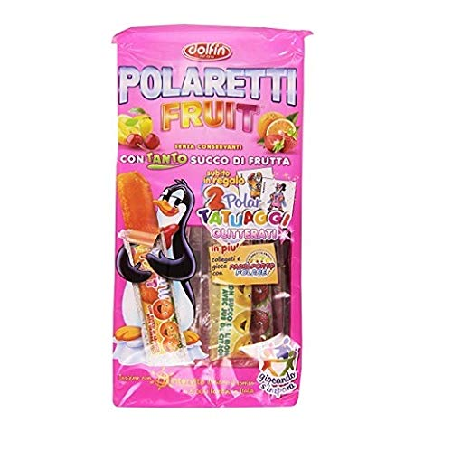 Polaretti Fruit Girl Ice Eis cream Lollies mit Fruchtsaft zum Einfriere 10x 40ml