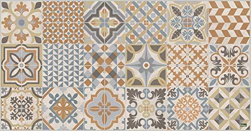 Vilber Toledo DU 04 52X100 Alfombra, Vinilo, Marron/Beige-04, 52 x 100 x 0.22 cm