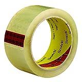 Scotch t90137436pk claro # 3743Carton cinta de sellado, 2'x 55YD. (Pack de 6)