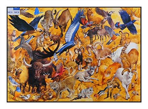 James Hamilton 1000 T   Puzzle (71 x 51 cm), diseño de leopardo y capricornio con águila