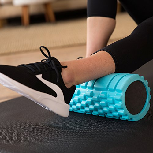 Product Image 8: 321 STRONG 758576546933ALIFFBA Foam Roller, Medium Density Deep Tissue Massager for Muscle Massage and Myofascial Trigger Point Release, with 4K eBook, Aqua