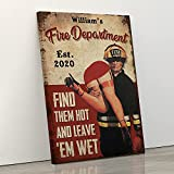 KING PRINT Fire Department Personalized Wall...