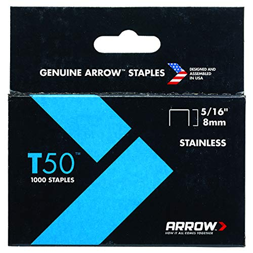 1,000-Pack Arrow Fastener 508SS1 Genuine T50 1//2-Inch Stainless Staples