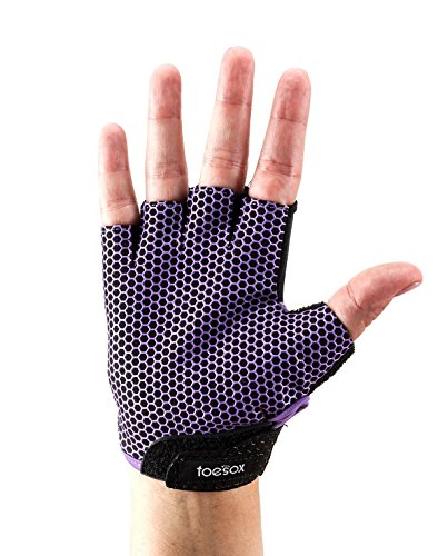 Fitness Mad ToeSox Glove Yoga & Pilates Grip Guante, Unisex Adulto, Morado Claro, Small