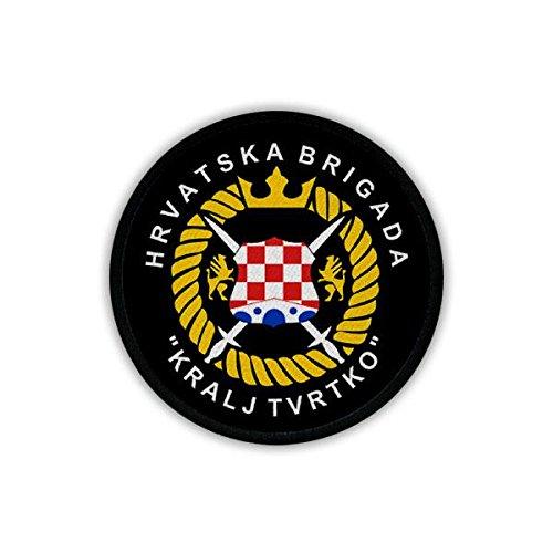 Copytec Patch/Aufnäher - Brigade Kralj Trvtko Hrvatska Brigada Sarajevo HVO Kroatischer Verteidigungsrat Spezialeinheit Hrvatsko vije?e obrane Kroatien Kroatische Armee Wappen Abzeichen Emblem #19254