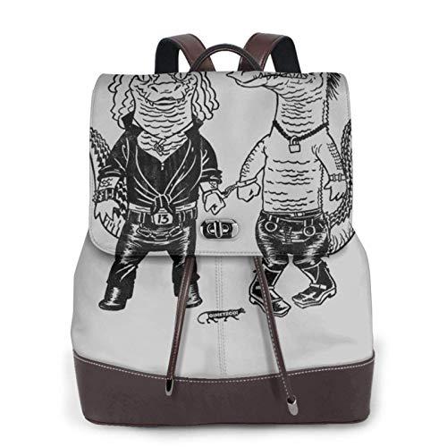 Pun Croc Women's Bapack, College Girl School Bag, Ladies Travel Bapack, Ladies Leather Bapack