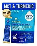 VitaCup Genius Instant Coffee Stick | Energy & Focus | Keto | MCT, Turmeric & Cinnamon | Vegan | Vitamins B1,...
