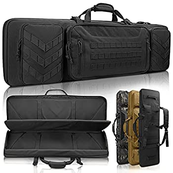 Sunfiner 【Upgraded】 Urban Series Double Soft Rifle Case Durable Tactical Long Rifle Bag & Multi-Function Gun Bag Prefect for Hunting Shooting and Other Outdoor Activities