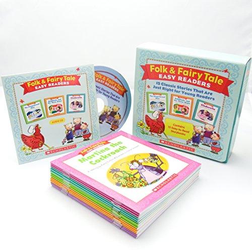 スカラスティックFolk&FairyTaleEasyReaders英語教材15冊セットCD付